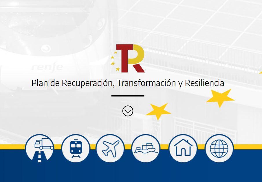El Ministeri de Transports, Mobilitat i Agenda Urbana posa en marxa una web amb informació sobre les àrees del Pla de Recuperació Transformació i Resiliència (PRTR) en què el Ministeri participa